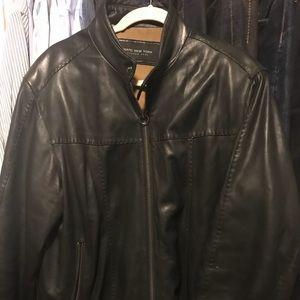 Marc New York Leather Jacket Size Large